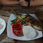 Grilled Fish with Balinese Sauce, plenty to split for two