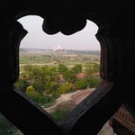 Hi Friend This is beautiful view of the Taj Mahal From Agra Fort.