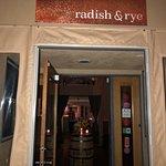 The entrance of Radish & Rye
