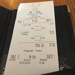 Bild från Mr Fox Restaurant