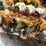 "the sushi platter- My favourite sushi called ""Spicy Summer"" (veg. its just got the perfect taste"