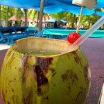Limonada de coco na ilha