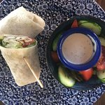 Haloumi and sweet chilli wrap