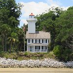Haig Point Lighthouse From Boat on Vanishing Island Tour