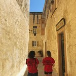 Winding streets of Malta and our team members