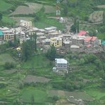 Scenic mountain villages view in Lahul Valley