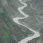 Spectacular views of Bhaga river from the top of Shashur monastery