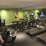 Fitness center with recently added equipment.  Good quality spin bikes but don't appear to trans