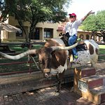 Photo op at the Fort Worth Stockyards!