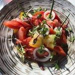 Heirloom Salad at Wolfgang Pucks, Five Sixty Restaurant.  Reunion Tower, Dallas, Texas