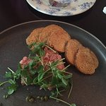 Appetizer- Steak tartare with toasted rounds