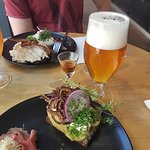 Mikkeller Beer and Potato smørrebrød