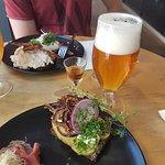Mikkeller Beer and Potato smørrebrød
