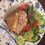Tuna Mayo Jacket Potato with salad