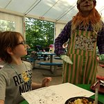 Meeting Scarecrow at Character Dinner