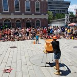 Quincy market street performance