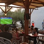 Not the worst place to watch the football!