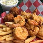 The fried shrimp dinner