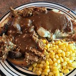 02-07-18 Meatloaf Special: Looks good but it was burned black on the bottom. Both meals.
