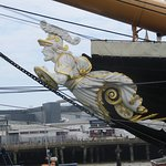 The figurehead of HMS Warrior