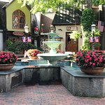 Fountain & Flowers at the Village