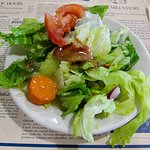 Little salad with hot bacon dressing
