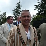 Michele Hicks, Cherokee Indian Chief  was a VIP guest at the rededication ceremony at Newfound G