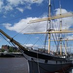 ship on river at museum