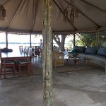 Three Rivers lodge overlooking Luangwa River