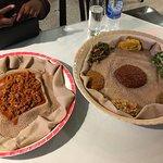 Awaze tibz with veggie platter
