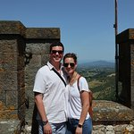 On top of the Winery/Castle to see panoramic views of Tuscany!