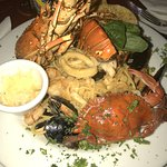 Sea food platter with pasta