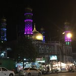View of Ao Nang Mosque from across the street at night