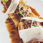 Pur paccheri with Welsh braised Lamb shoulder and our braising jus.