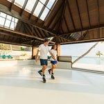 Eco-friendly ice rink next to the beach