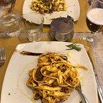 Pasta with porcini mushroom or wild boar