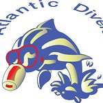 Atlantic Divers Logo... Look out for our snorkelling Dolphins!