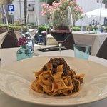 Super tasty carbonara with home made pasta!