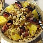 Arroz de pato com bacon ananás e pinhões