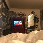 TV too small to see from the bed.