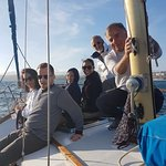 Sailing from Oeiras to Cascais with Lisbon Yachting.