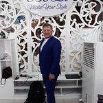 Kerri and his new bespoke suit