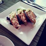 Mini Crab Tacos appetizer.