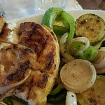 Chicken with grill vegitables