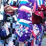 colourful girls in Gion