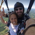 Julie and Luke flying through the air! Look at that view! Amazing!!