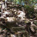 Parte do acesso à cachoeira