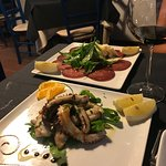 Grilled Octopus and Bresaola Antipasti