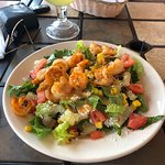 great fruit, shrimp salad