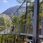 Photo of Charles Kuonen Suspension Bridge